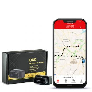 GPS Tracker With No Monthly Fee, Realtime OBD GPS Tracker With 1 Year Of Service Free- Low Profile Tracker